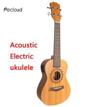 Acoustic Electric Soprano Concert Tenor Ukulele 21 23 26 Inch Mini Guitar Mahogany 4 Strings Ukelele Guitarra Uke Mahogany