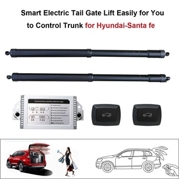 Smart Auto Electric Tail Gate Lift untuk Hyundai Santa Fe Kontrol dengan Remote Kursi Perjalanan Tail Gate Tombol Set Tinggi menghindari Pinch
