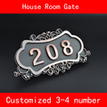 Number of House Room Gate European Style Classic Brone Like ABS Custom-made 3 to 4 Numbers Customized Hotel Door Plate Hotel