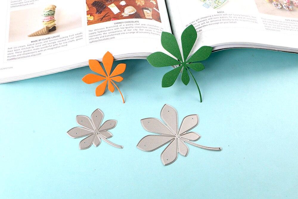 Mimgo Leaves Cutting Dies Stencils DIY Scrapbooking Album Decor Card Makeing