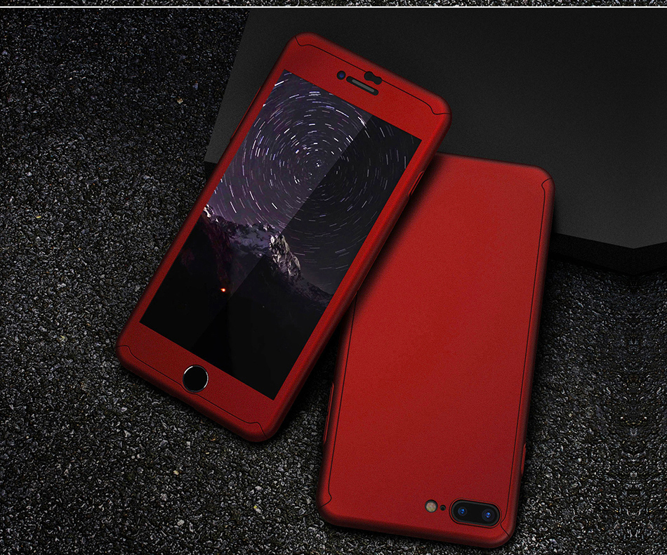 FLOVEME Luxury 360 Full Case For iPhone 7 7 Plus Glass Film Phone Accessories For iPhone 6 6S Plus Xiaomi Mi 6 Huawe P 10 Covers (11)