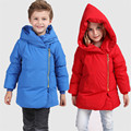 Winter 2016 Kids Coat  Boys New Brand Unisex Fashion Solid Long-sleeved Casual Hooded Outwear Down Jacket Children's Clothes Hot