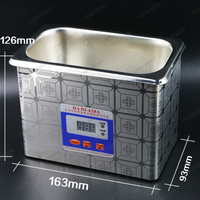 Stainless Steel Ultrasonic Cleaner Home Appliance Ultrasonic Washer with Baths for Dentistry Denture 628A