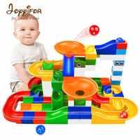 52 pièces Construction marbre course course labyrinthe balles piste enfants blocs de Construction jouet Kit bricolage éducatif enfants cadeaux