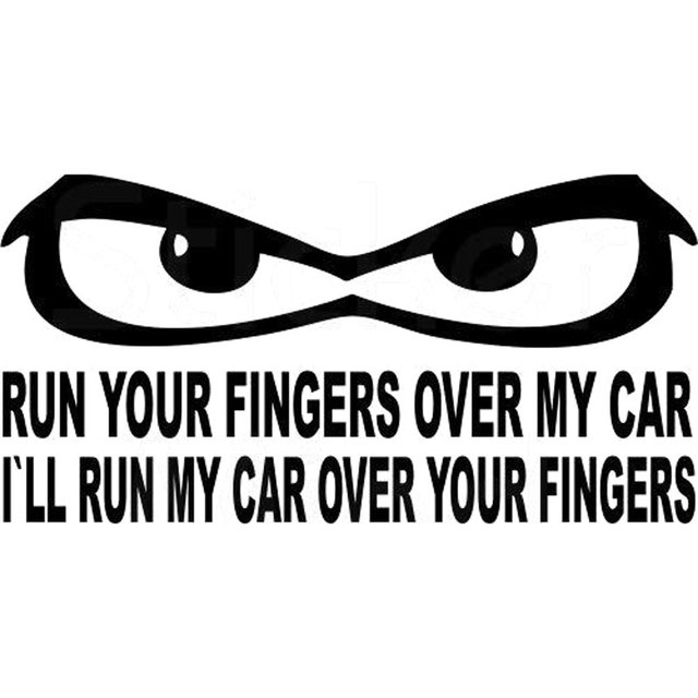 20cm10cm dont touch my car stickers for car motorbike reflective decorative car accessories sticker