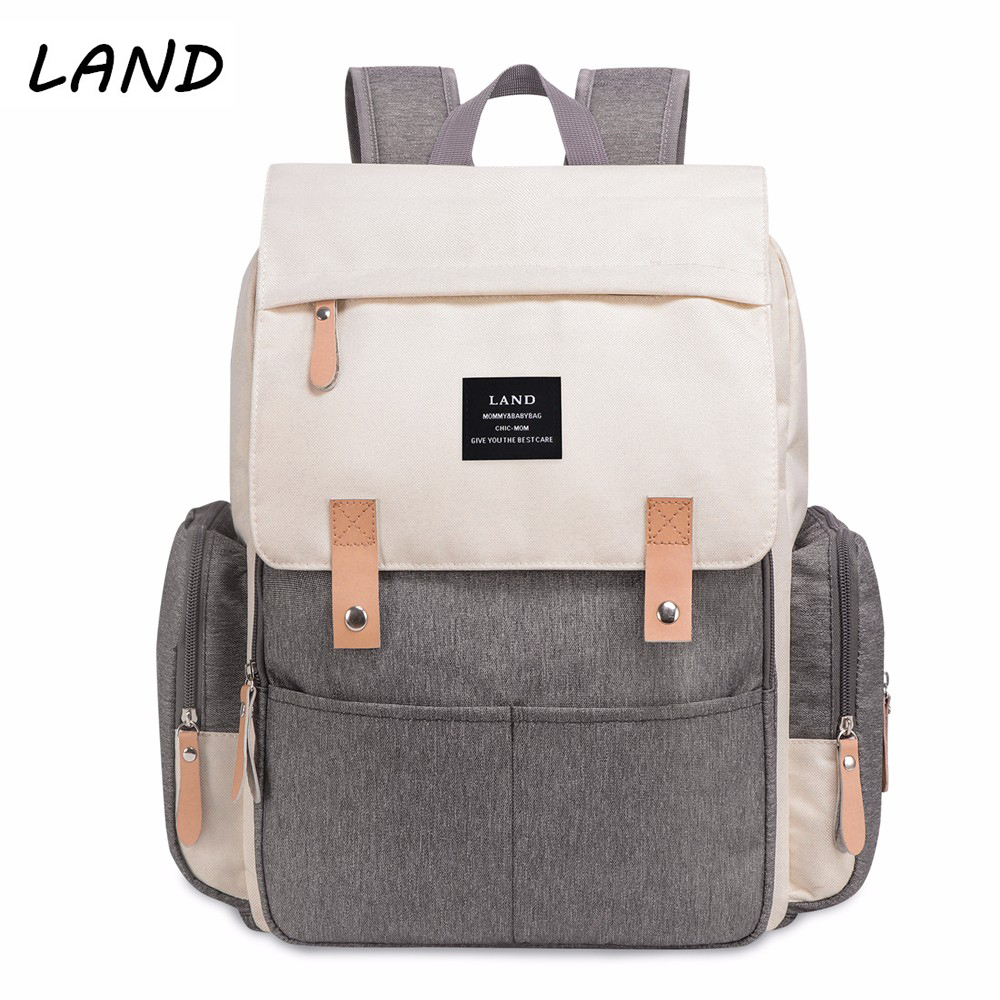 LAND Baby Bag Nappy Bags Large Diaper Bag Backpack Baby Organizer Maternity Bags For Mummy Handbag Baby Nappy Backpack mummy diaper bag multifunctional baby diaper zipper backpack bags big pocket baby nappy changing bag organizer maternity bags