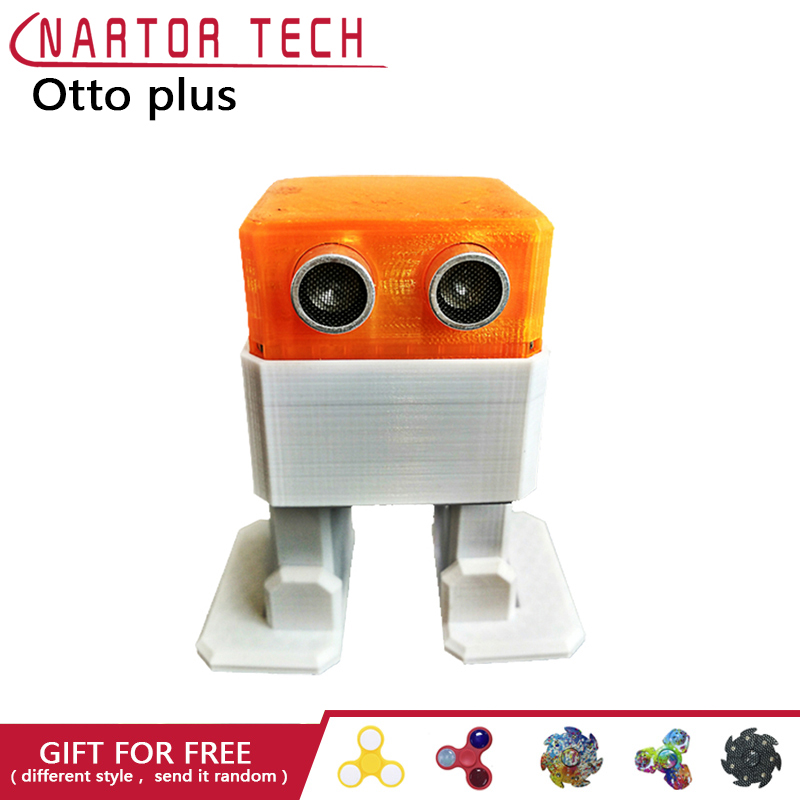 цена OTTO Plus otto DIY + Arduino ROBOT Open Source Maker Obstacle Avoidance Bluetooth Control 3d Print