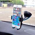 Sc30 lechón del montaje del parabrisas del coche universal soporte para teléfono para iphone 5 5S 6 6 s plus samsung htc smartphones gps muelle de soporte de plástico