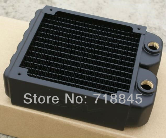 McCurry Cool Seoul cooled 120 water-cooled copper double radiator exhaust heat exchanger cooled exhaust water cooling computer 5pcs lot pure copper broken groove memory mos radiator fin raspberry pi chip notebook radiator 14 14 4 0mm copper heatsink