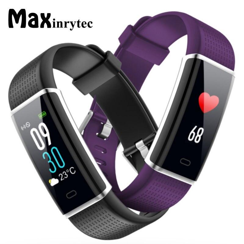 Maxinrytec ID130 Plus Bracelet de Fitness IP67 étanche montre intelligente de fréquence cardiaque pour Android Bracelet intelligent Xiaomi IOS iPhone