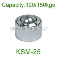 10pcs 25mm 1 Ball Metal Transfer Bearing Unit Conveyor Roller KSM 25 Tone Eye Shape Design