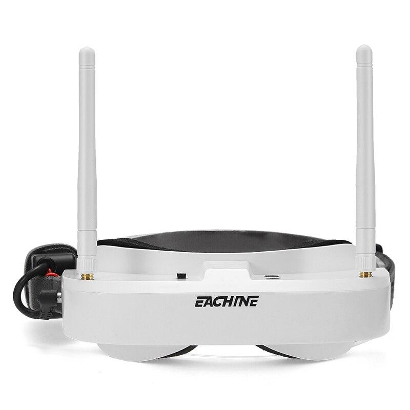 En existencia Eachine EV100 5.8g 72CH FPV Racing gafas VR auricular Gafas con 7.4 V 1000 mAh negro batería blanco vs fatshark Aomway