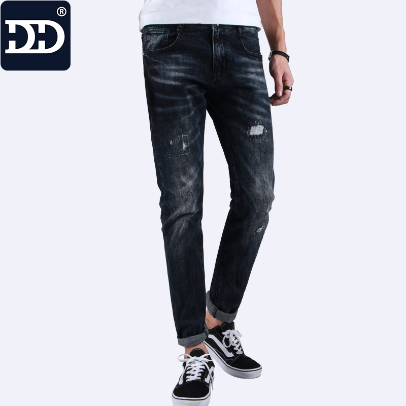 Dingdi Jeans Men Hot Sell Mens Pants 2017 New Arrival Designer Clothing  Hole Jeans Wash Water Hole Male hot new arrival mens jeans white hole jeans beggar style pants male taper straight slim high quality men pants plus size mb324