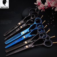 Smith Chu Hair Scissors Professional Hairdressing Scissors High Quality Cutting Thinning Scissor Shears Hairdresser Barber