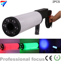 Free Shipping 2pcs/Lot (2 Guns+ 1 Case) DJ Gun LED CO2 Jet Machine Dj Gun Disco Lighting Stage Atmosphere Equipment