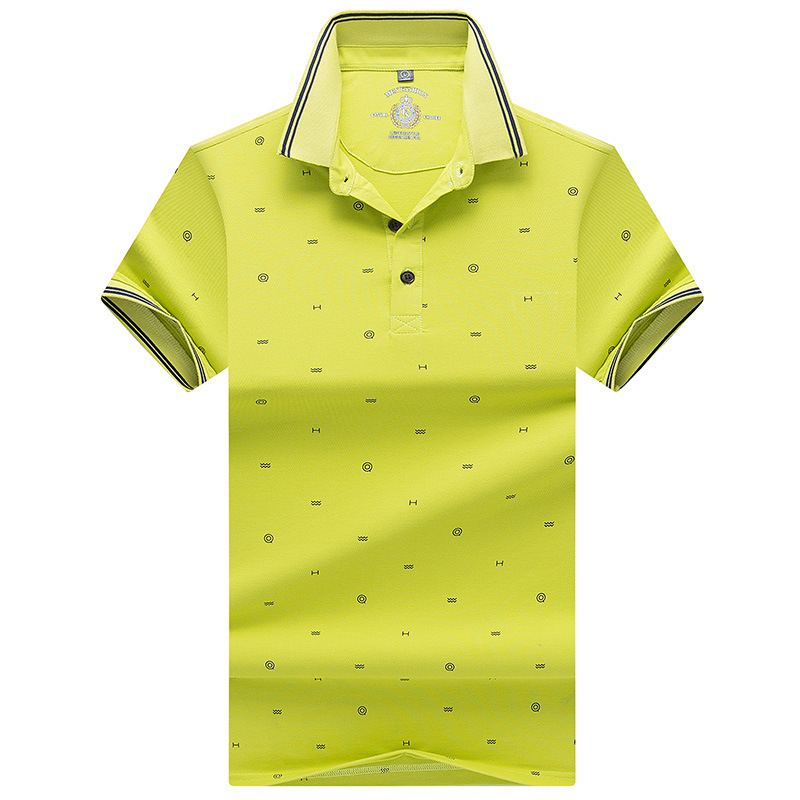 New Men's   Polo   Shirt Summer Short Sleeve Male Fashion Printing Cotton Casual   Polos   Men Brand Slim Fat   Polo   Tee M~3XL AF9096