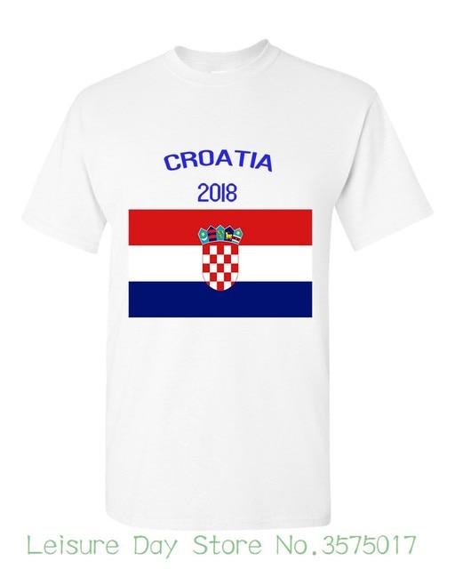 91f4d86619 2018 Croácia Bandeira Rússia Jogo da Copa Do Mundo Mais Novo Projeto T Mens  camisa de