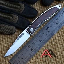 Ben oem Mnandi M390 Blade snake wood TC4 Titanium handle folding knife Copper washer hunt camp Pocket Survival EDC Tool knives