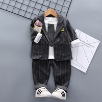 Boys cloths Kids suit set of three piece long sleeved T shirts for infants