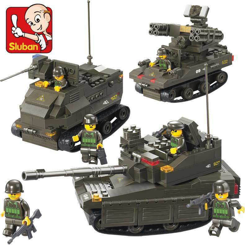Sluban model building kits compatible with lego city tank 719 3D blocks Educational model & building toys hobbies for children lepin 02012 city deepwater exploration vessel 60095 building blocks policeman toys children compatible with lego gift kid sets