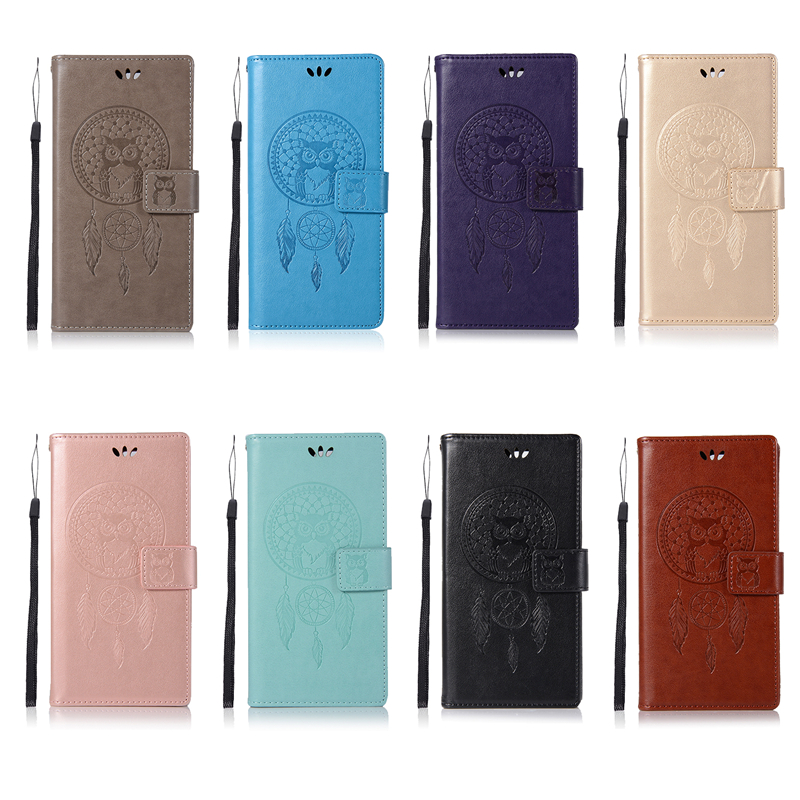 Embossed Wallet Case For SONY Xperia XZ Premium PU leather Owl Flip Cover Case For SONY Xperia XZ Premium Case Phone
