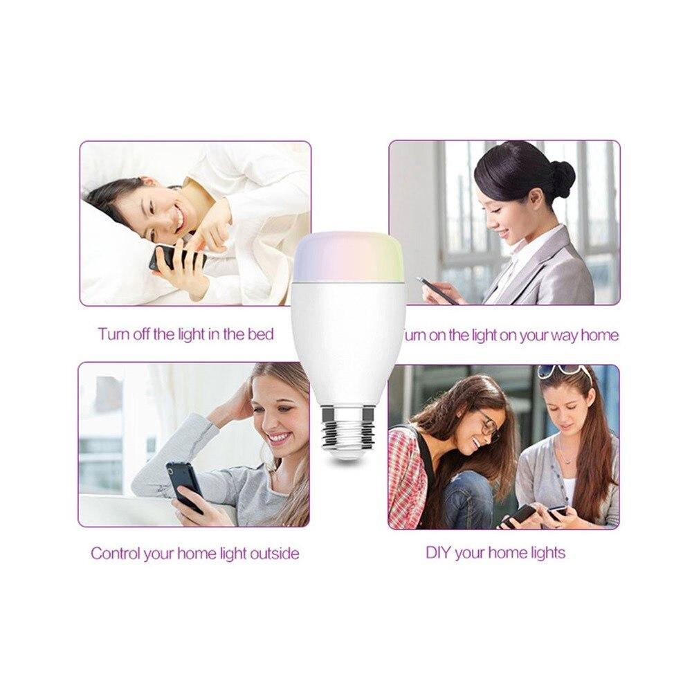 Wifi Smart Glass Models Screw E27 Bu-lb For Amazon Alexa/Google Home App Control May8