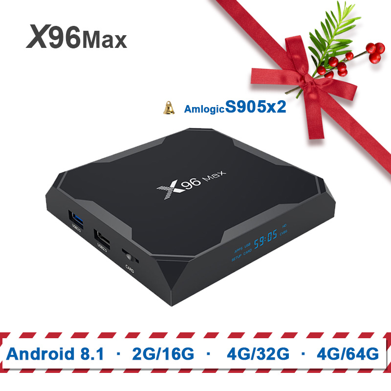 X96 max Amlogic s905x2 tv box android 8.1 x96max 2G16G/4G32G/4G64G Quad Core ARM 2.4G & 5 GHz Wifi BT 1000 M 4 K Set top box