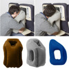 1Pcs Travel Pillow Soft Air Inflatable Neck Pillow Comfortable Traveling Bolster Car Pillows for Sleeping Bedding 50*35CM