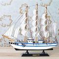 Новый Ручной Работы Деревянная Модель Корабля Пирата Парусные Лодки Игрушки Для Детей Домашнего Декора не Съемный
