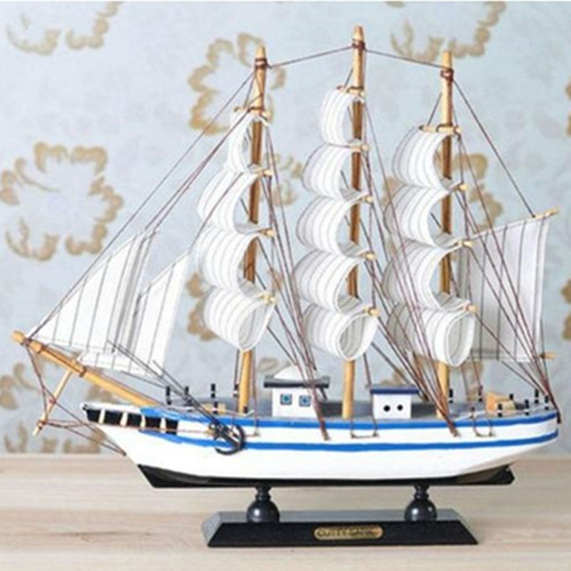 New handmade wooden ship model pirate sailing boats toys for Ship decor home
