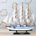 Nuevo Hecho A Mano De Madera Modelo de Barco Pirata Barcos de Vela no Juguetes Para Niños Decoración Para El Hogar Extraíble