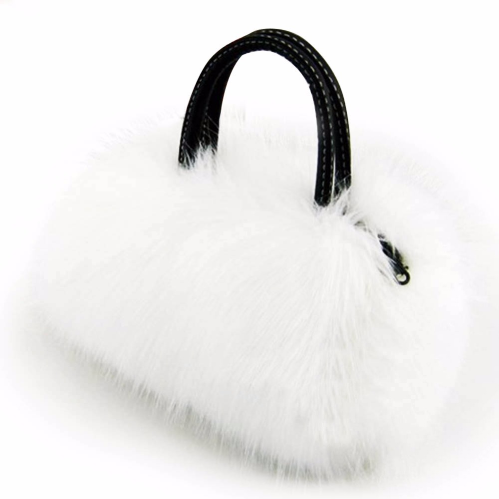 Faux Rabbit Fur Handbags Women Winter Soft Shoulder Bag Famous Brand Luxury Women Messenger Bags Female Tote Shoulder Bags 2018