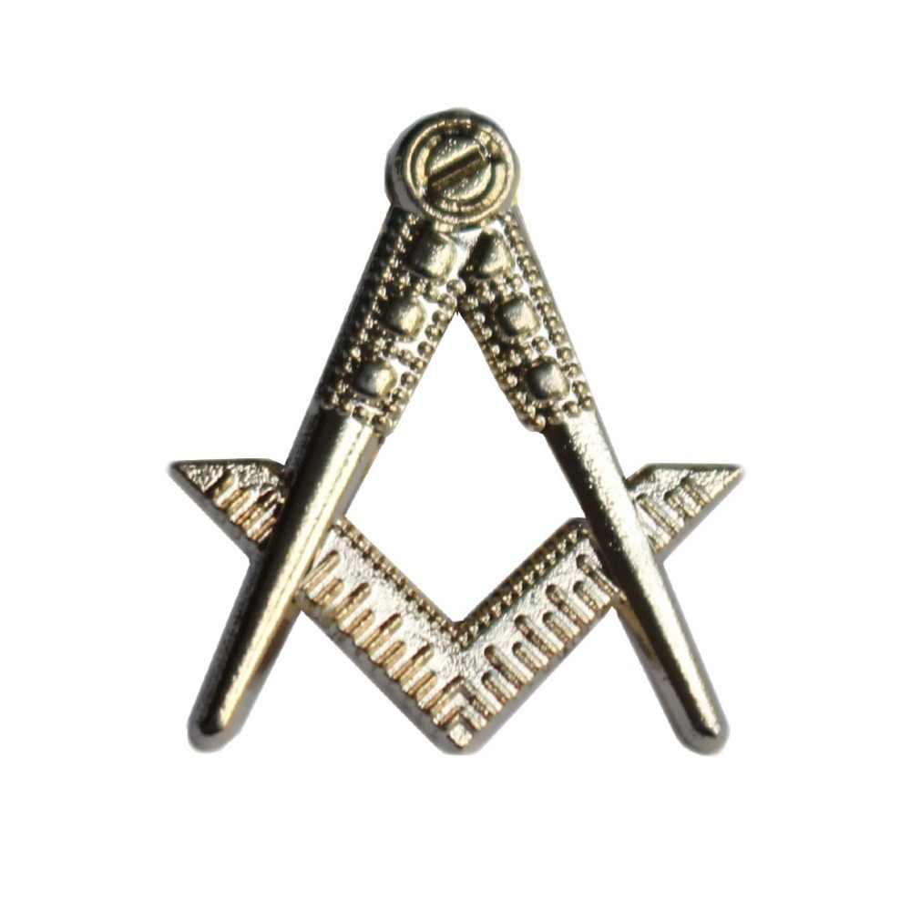 Pino de lapela maçônico, quadrado e maçônico de lapela de bússola, alfinete de emblema com borboleta, presente de símbolo para freemason