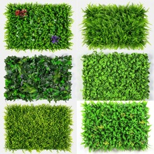 Xuanxiaotong 60*40cm Green Artificial Lawns Landscape Carpet for Home Garden Background Wall Decoration Party Wedding Supply