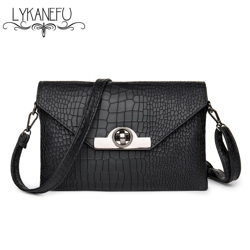 Lykanefu marca mujeres bolsa de mensajero pequeño bolso de embrague del diseñado