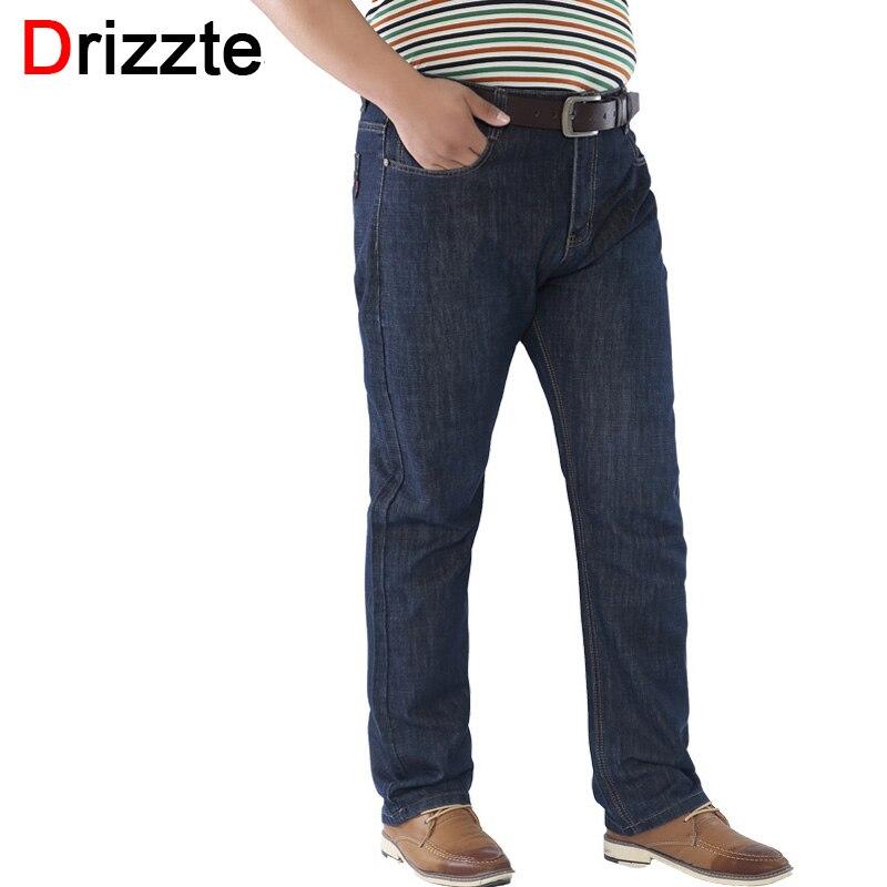 Drizzte Plus Size 36 40 42 44 46 48 50 52 Mens Blue Denim   Jeans   Trousers Big Large Sizes Pants For Men