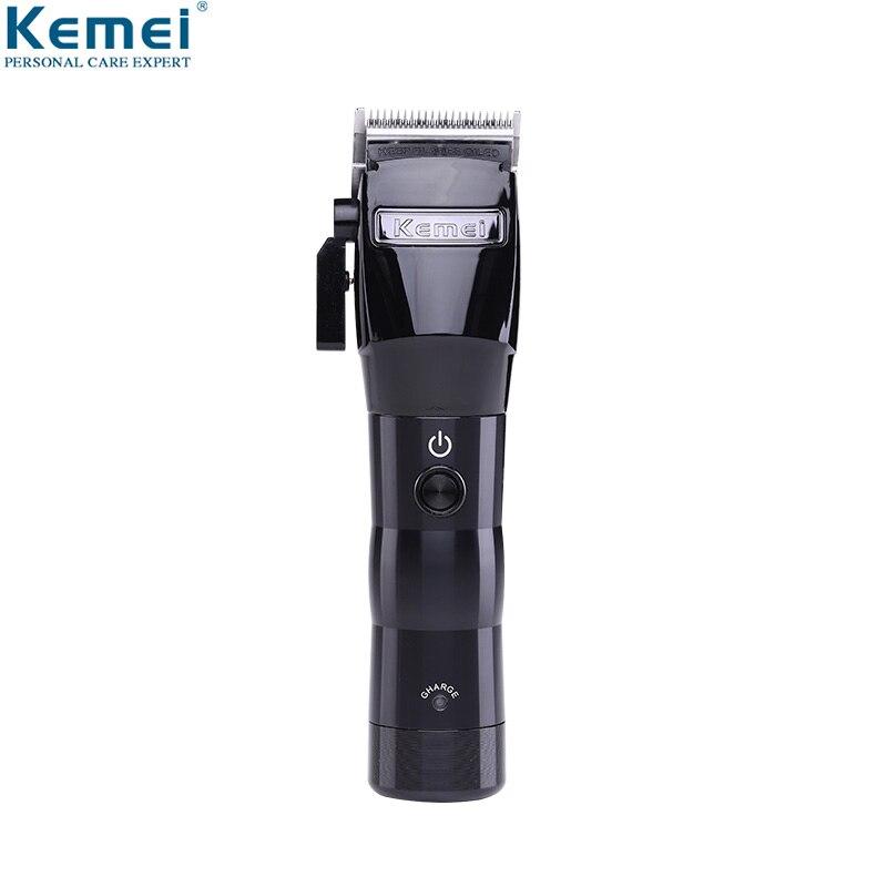 Kemei Cheveux Professionnel Tondeuse Électrique Sans Fil Puissante Tondeuse Machine De Découpe Coupe de Cheveux Tondeuse Outils Barber Nouveau