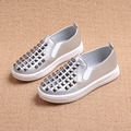 2016 Children fashion loafers rivet flats leather shoes Spring boys girls comfortable sneakers Autumn kids leisure single shoe