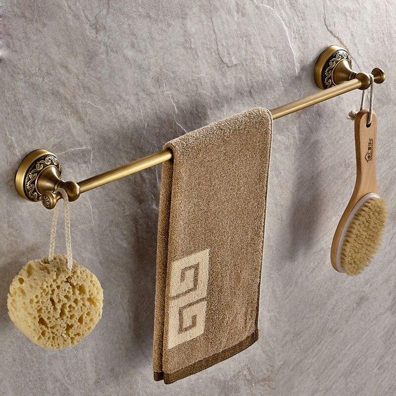 Antique Brass Single Towel Bar Brass Towel Rack Luxury Towel Holder Bathroom Accessories Set
