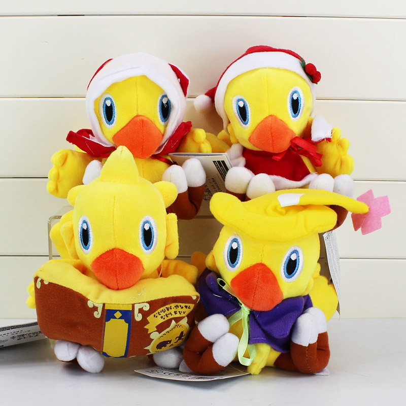 купить Final Fantasy Plush Toy Kawaii Cute Chocobo Final fantasy Fans Game Fans Collection Plush Doll 15-18cm дешево