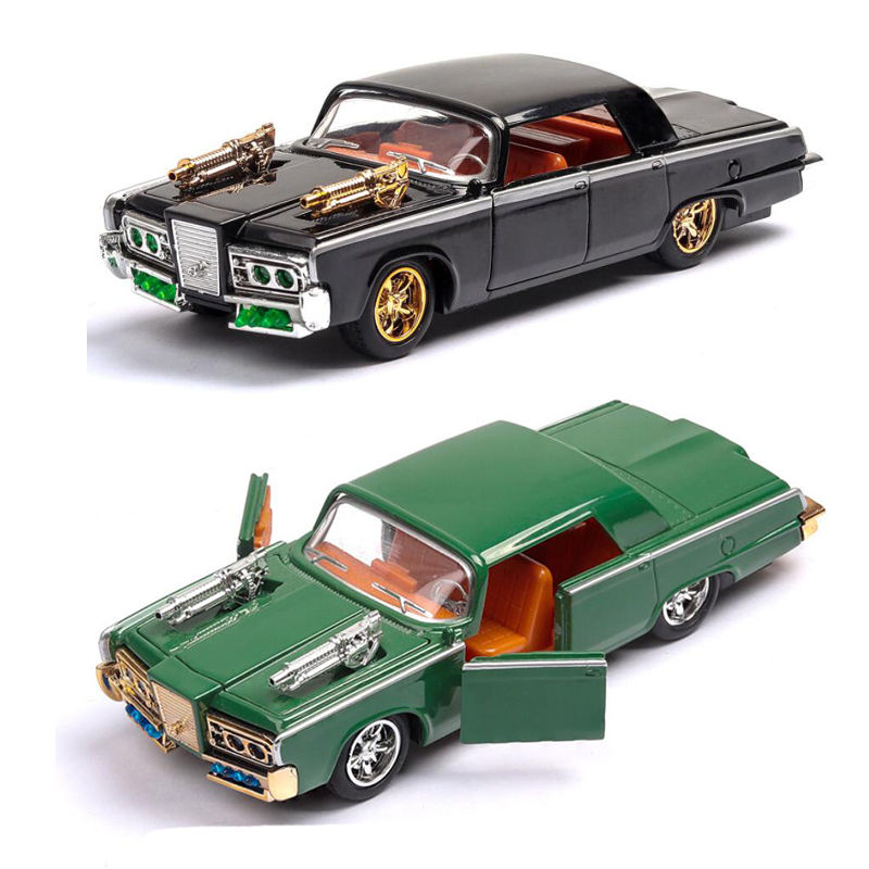 1:43 High Simulation Retro Vintage Car Muscle Car Alloy Pull Back Car Toys Collection Model With Light and Sound V128 image