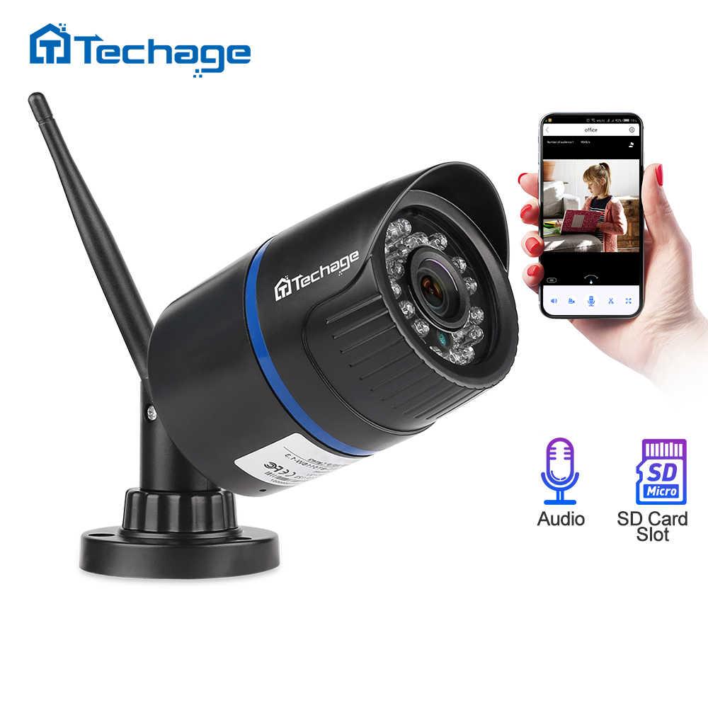 Techage 1080P Wifi IP Camera Home Security 2MP Audio Record