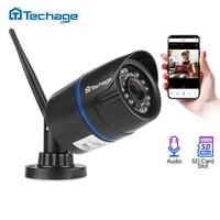 Techage 1080P Wireless Wifi IP Camera SD TF Card Audio Record 2MP IR Night Vision 2MP P2P Onvif CCTV Outdoor Video Surveillance