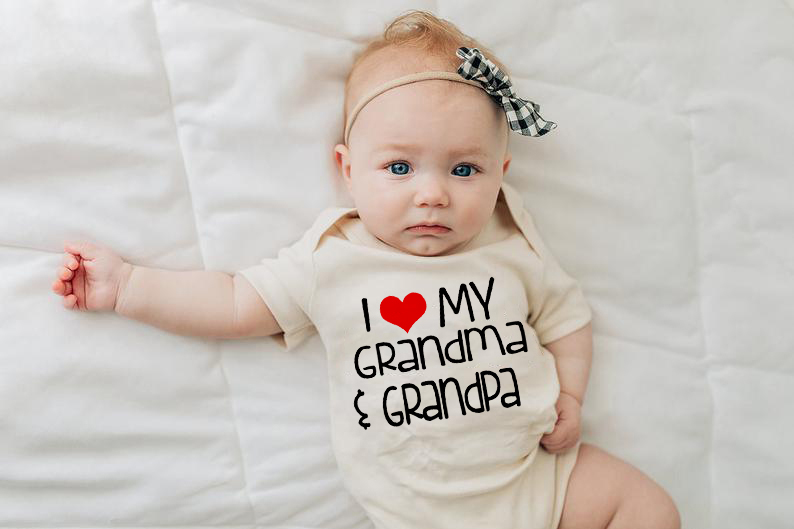 Summer White Clothing I Love My Grandma Grandpa Print Baby Bodysuit 2019 Baby Jumpsuits Cute Short Sleeve Baby Boys Clothes