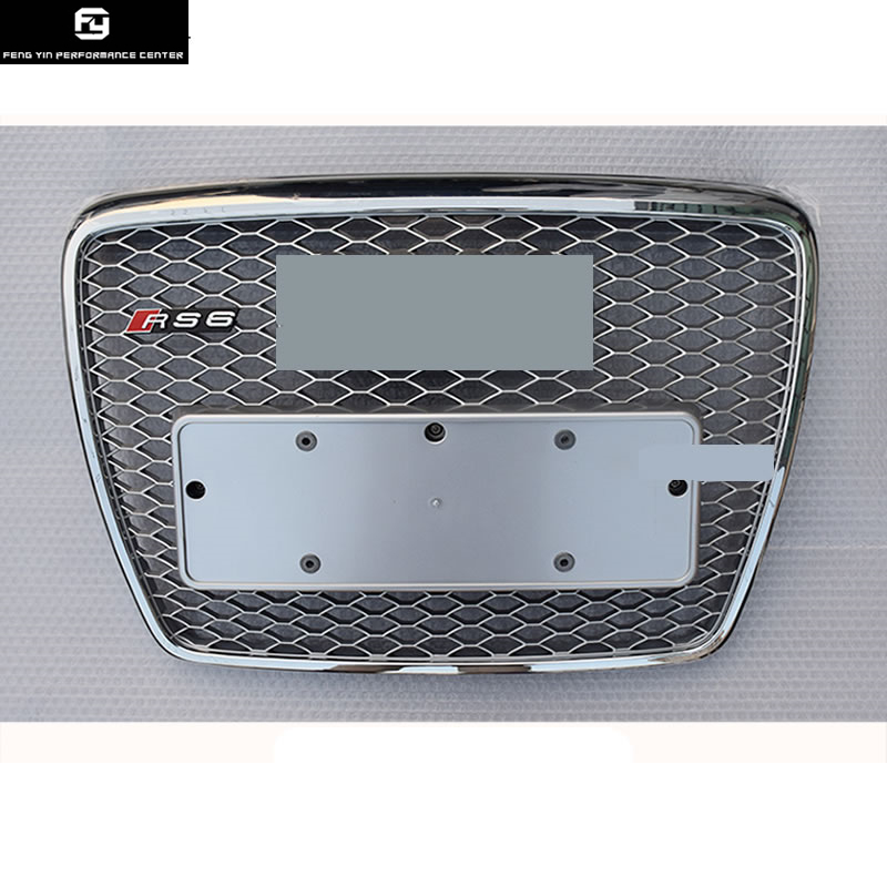 A6 C6 RS6 ABS Chrome Griglie radiatore sportive Auto Auto paraurti Anteriore Griglia Per Audi A6 C6 S6 RS6 SFG 09 -12