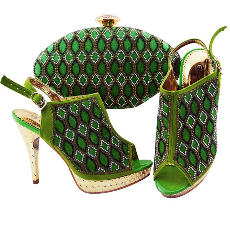 Italien En jaune Chaussures rouge bleu Pour Sacs Dernières Green Le Royal Assorties Ensemble lime 2019 fuchsia Et Femmes Sac pourpre Mariage Africain Noir Ensembles Talons HIEYW9D2