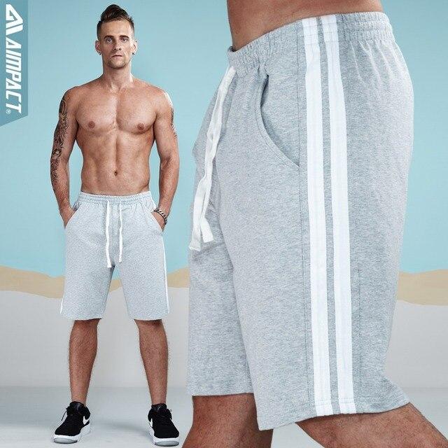 8fdd62a5 Aimpact Shorts Men Cotton Sporting Fashion Short for Men Stripped 2018  Jogger Casual Gyms Men's Sweatshorts