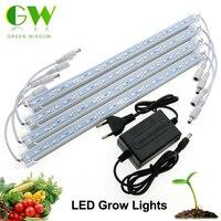 LED Grow Light 3 Red 1 Blue DC12V de Baja Tensión de Crecimiento Seguro LED Light Bar Set.