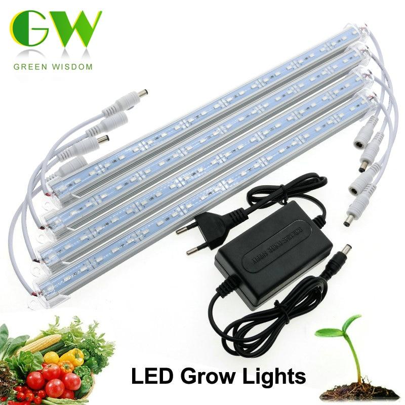 LED Grow Light 3 Red 1 Blue DC12V Low Voltage Safe Growing LED Bar Light Set.