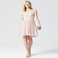 TS Couture Princess Sweetheart Short Mini Chiffon Lace Cocktail Party Dress With Pleats